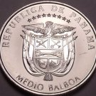Huge Gem Unc Panama 2014 Half Balboa~Panama Canal 100 Year Anniversary~Free Ship