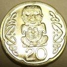 Gem Unc New Zealand 2006 20 Cents~Pukaki~The Gods~Free
