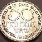 Rare Proof Sri Lanka 1978 50 Cents~Only 20,000 Minted~Awesome~Free Shipping
