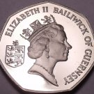 Large Rare Cameo Proof Guernsey 1985 50 Pence~2,500 Minted~Freesia Flowers~Fr/Sh