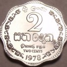 Rare Proof Sri Lanka 1978 2 Cents~Only 20,000 Minted~Scalloped~Free Shipping