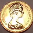 Cameo Proof Great Britain 1976 Penny~Only 100,000 Minted~Excellent~Free Ship