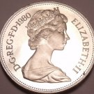 Large Cameo Great Britain Proof 1980 10 New Pence~Lion Coin~Excellent~Free Ship