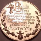 Solid Bronze Proof Franklin Mint Medallion~The Holy Family~Incredible~Free Ship