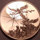 Solid Bronze Proof Franklin Mint Medallion~Christ Nativity And Manger~Free Ship