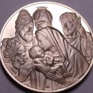 Solid Bronze Proof Franklin Mint Medallion~Adoration Of The Magi~Awesome~Fr/Ship