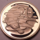 Large Cameo Proof Australia 1987 20 Cents~Duckbill Platypus~70,000 Minted~FR/Shi