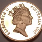 Cameo Proof Australia 1987 2 Cents~Frill-Necked Lizard~70,000 Minted~Free Ship