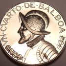 Rare Proof Panama 1974 1/4 Balboa~Proofs Have Lower Mintages~18,000 Minted~Fr/Sh