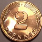 Gem Cameo Proof Germany 1981-F 2 Pfennig~Minted In Munich~91k Minted~Free Shi