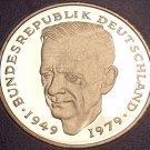 Gem Cameo Proof Germany 1981-F 2 Marks~Dr Kurt Schumacher~91k Minted~Free Ship