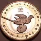 Rare Bi-Metal Proof Portugal 1999-INCM Unicef 200 Escudos~Only 7,000 Minted~Fr/S