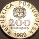 Huge Rare Bi-Metal Proof Portugal 1999 200 Escudos~Only 7,000 Minted~Free Ship