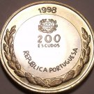 Huge Bi-Metal Proof Portugal 1998-INCM 200 Escudos~Only 7,000 Minted~Free Ship