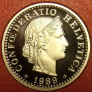 Rare Cameo Proof Switzerland 1989 10 Rappen~Only 8,800 Minted~Proofs R Best~Fr/S