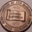 Huge Kamiloops British Columbia 1967 Coin Club Canada Centennial Medallion~Fr/Sh