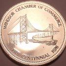 Huge Unc 1976 Windsor Ontario Centennial Medallion~Suspension Bridge~Free Ship