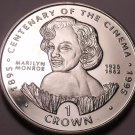 Gem Unc Gibraltar 1996 Crown~Marilyn Monroe 1926-62~Centennial Of Cinema~Free Sh