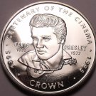 Gem Unc Gibraltar 1996 Crown~Elvis Presley 1935-77~Centennial Of Cinema~Free Shi