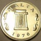 Rare Proof Malta 1976 5 Cents~26,000 Minted~Temple of Hagar Qim~Free Shipping