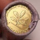 Rare Gem Unc Original Roll (50) Germany 1950 10 Pfenning Coins~Free Shipping