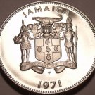 Rare Proof Jamaica 1971 10 Cents~14,000 Minted~Lignum Vitale~Free Shipping