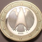 Cameo Proof Germany 2002-A 1 Euro~Minted In Berlin~Cameo~Bi-Metal~Free Shipping~