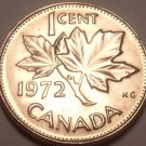 Gem Unc Canada 1972 Maple Leaf Cent~We Have Canadian Coinage~Free Shipping