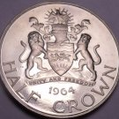 Rare Proof Malawi 1964 Half Crown~10,000 Minted~1st Year For Any Coinage~Fr/Ship