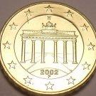 Gem Unc Germany 2002-F 10 Euro Cents~Brandenburg Gate~Awesome~Free Shipping