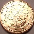 Gem Unc Germany 2002-F 1 Euro Cent~Oak Leaves~Free Shipping
