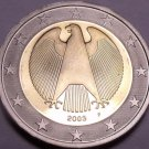 Cameo Proof Germany 2003-F 1 Euro~Stuttgart Mint~Cameo~Bi-Metal~Free Shipping~