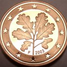 Cameo Proof Germany 2003-F 1 Euro Cent~Berlin Minted~Free Shipping~