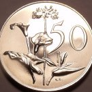 Large Rare South Africa 1967 Proof 50 Cents~25,000 Minted~Flowers~Free Shipping