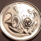 Rare South Africa 1967 Proof 20 Cents~25,000 Minted~Protea Flower~Free Shipping