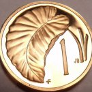 Rare Proof Cook Islands 1976 Cent~Taro Leaf~18,000 Minted~Proofs R Best~Fr/Shi