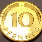 Gem Cameo Proof Germany 1978-J 10 Pfennig~Minted In Hamburg~54k Minted~Free Shi