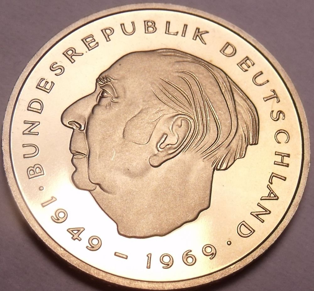 Gem Cameo Proof Germany 1978-J 2 Marks~Theodor Heuss~Only 54,000 Minted~Free Shi