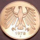 Gem Cameo Proof Germany 1978-J 5 Marks~Eagle With 14 Feathers~54k Minted~Free Sh