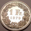 Rare Cameo Proof Switzerland 1979 Franc~Only 10,000 Minted~Fantastic~Free Ship