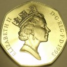 Huge Cameo Proof Great Britain 1993 50 Pence~Proofs Are The Mints Best Work~F/Sh