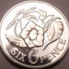 Rare Proof Zambia 1964 6 Pence~Only 5,000 Minted~Morning Glory~Free Shipping