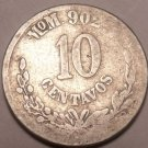 Scarce Silver Mexico 1887 MoM 10 Centavos~We Have Mexican Coins~Free Shipping