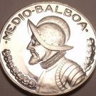 Rare Proof Panama 1973 Half Balboa~Only 17,000 Minted~We Have Proof Coins~Fr/Shi