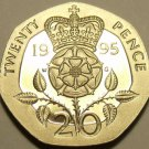 Cameo Proof Great Britain 1995 20 Pence~Only 100,000 Minted~Fantastic~Free Ship
