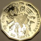 Cameo Proof Australia 1982 50 Cents~XII Commonwealth Games~Brisbane~Free Ship