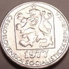 Gem Unc Czechoslovakia 1977 5 Haleru~Czeck lion~Excellent~Free Shipping