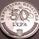 Proof Croatia 2009 50 Lipa~Proofs Are The Mints Best Work~Wild Flowers~Free Ship