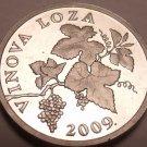 Proof Croatia 2009 2 Lipe~Grape Vine~Proofs Are The Mints Best Work~Free Ship