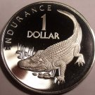 Massive Cameo Proof Guyana 1976 F.A.O. Issue Dollar~Mintage 3,547~Caiman~Fr/Ship